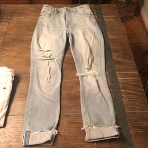 Abercrombie high-rise distressed jeans 27